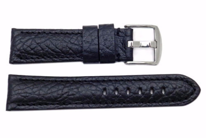 本革ブラック20 mm Textured Paneraiスタイル時計ストラップ  B01NA7AYEK