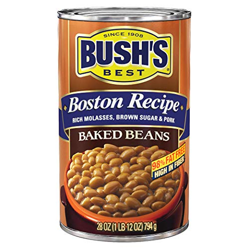 BUSH'S BEST Boston Recipe Baked Beans, Canned Beans, Prime Pantry, 28 oz. (Best Canned Pinto Beans Recipe)
