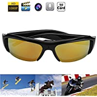 1080P HD Fashion Sunglasses Spy Camera Hidden Camcorder Cam DV DVR Video Recorder + Free 8GB SD TF Card