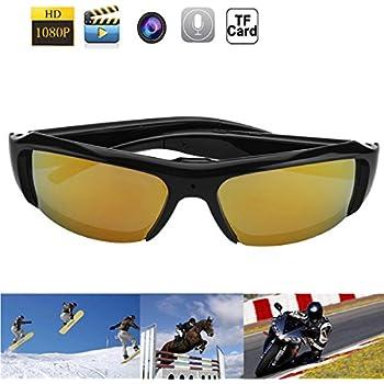 1080P HD Fashion Sunglasses Spy Camera Hidden Camcorder Cam DV DVR Video Recorder + Free 8GB SD TF Card