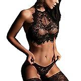 #2: Hot Sale Women's Sexy Lingerie for Sex Nightgown Lace Sleepwear G-string Underwear Set