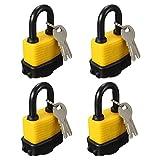 OKURA 4X Padlock Keyed Alike Laminated Master Locks Gate Door Padlock with 8 Keys
