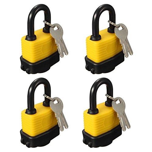 OKURA 4X Padlock Keyed Alike Laminated Master Locks Gate Door Padlock with 8 (Master Laminated Padlock)