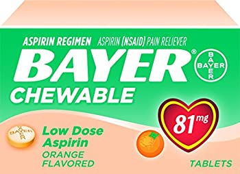 Bayer Aspirin Chewable Low Dose 81mg 108 Tablets