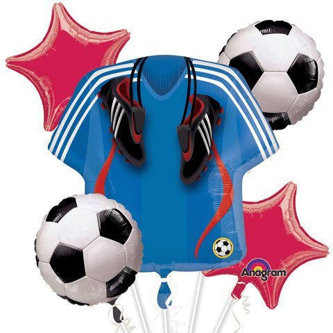 Soccer Bouquet Of Balloons (5 per package) by Anagram