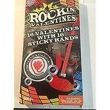 Paper magic group studio 2/14 Rockin' Valentines : 16 valentines with 16 sticky hands 2 rockin' designs