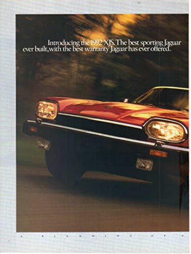 "Magazine Print Ad: 1992 Red Jaguar XJS Convertible""The best sporting Jaguar ever built."""