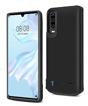 Funda Batería para Huawei P30,Fey-EU 5000mAh Funda Cargador Portatil Batería Externa Ultra Carcasa Batería Recargable Power Bank Case para Huawei ...