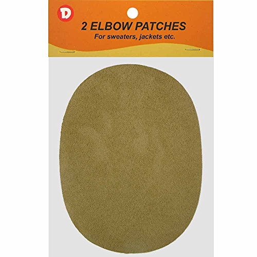 Faux - Suede Garment Iron-On Elbow Patches 4 1/2 x 5 1/2 in 2/Pkg - Beige