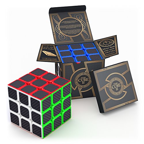 Cheap aGreatLife Carbon Fiber Sticker Speed Cube: 3x3x3 Cube Puzzle to Expand Your Mind With Hours of Logical Fun - Easily Twist With Superior Cornering - Hand-Held Games That Educate for cheap