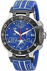 Tissot Men's T0484172704700 Nicky Hayden T-Race Limited Edition Analog Display Swiss Quartz Blue Watch