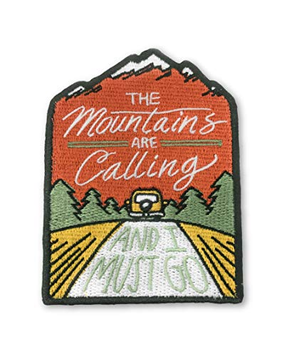 OHoulihans - The Mountains are Calling and I Must Go Iron on Patch - Perfect Morale Patch for Hiking, Adventures, Nature, Travel, and More - Premium Quality Embroidered Patch