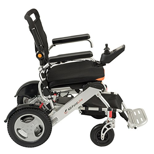 23 Power Wheelchair - F KD FoldLite Heavy Duty Electric Wheelchair, Foldable and Lightweight, 360° Joystick with LED Display Screen and USB Charging Port, Weight Capacity 330 lbs