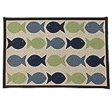 Pet Rageous Kool Fishies Tapestry Mat Feeder - 13 x 19