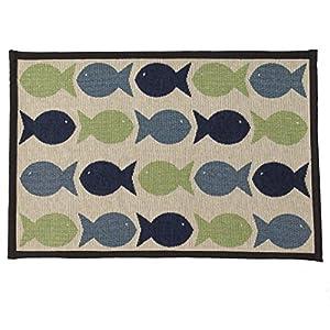 PetRageous Kool Fishies Tapestry Mat Feeder, 13 x 19/Small