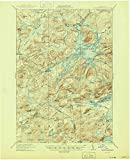 YellowMaps Cranberry Lake NY topo map, 1:62500 Scale, 15 X 15 Minute, Historical, 1921, Updated 1945, 20.9 x 17 in - Paper