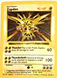 Zapdos Base 1 Set - Pokemon Basic Card 16/102 Holo Foil