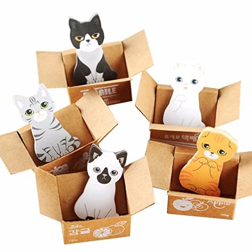 Costumes To List Adult Do (Pack of 10 Cartoon Cat in Box Mini Memo Sheet 1.5x1 Inch; Super Sticky)