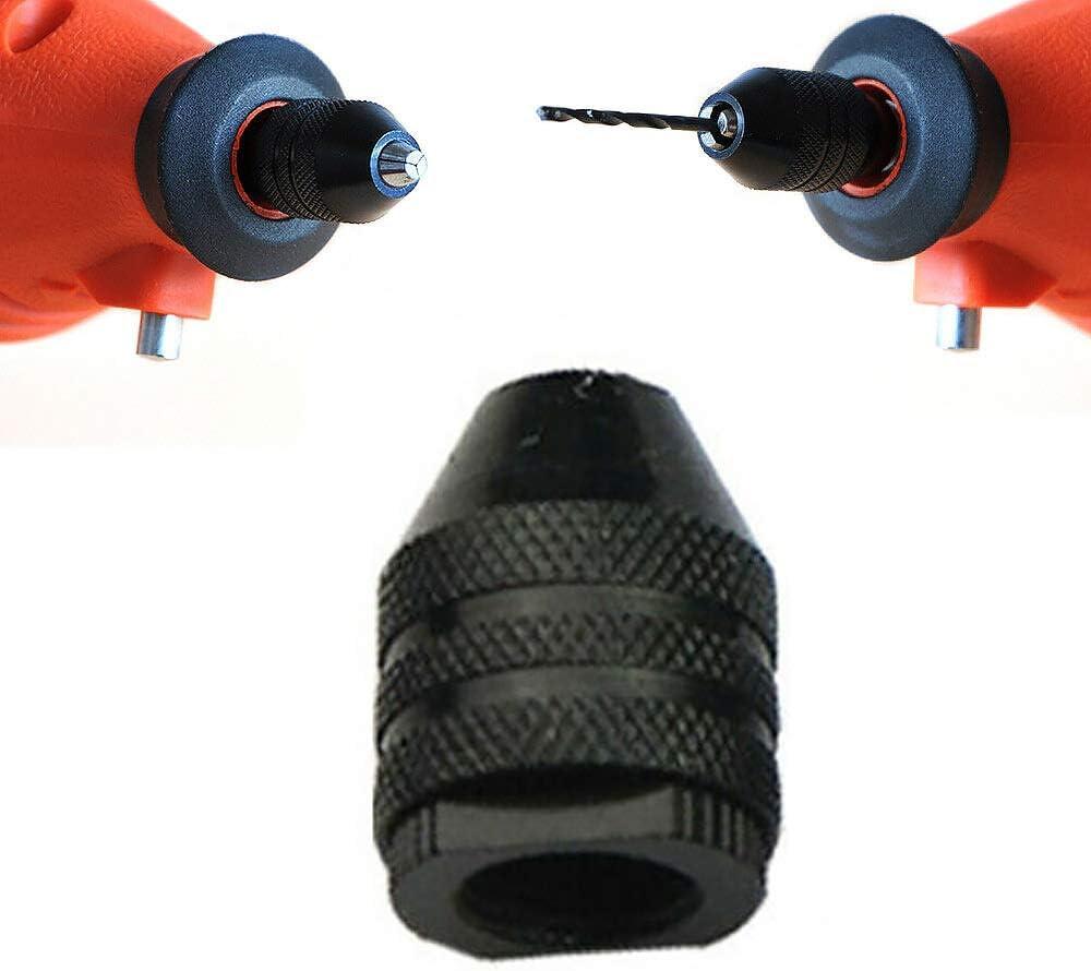 M8 x 0.75 Chuck Rod Set for 3-Jaw Mini Drill Bit Grinder Drill Chuck 0.3~3.2mm Clamping Range Black