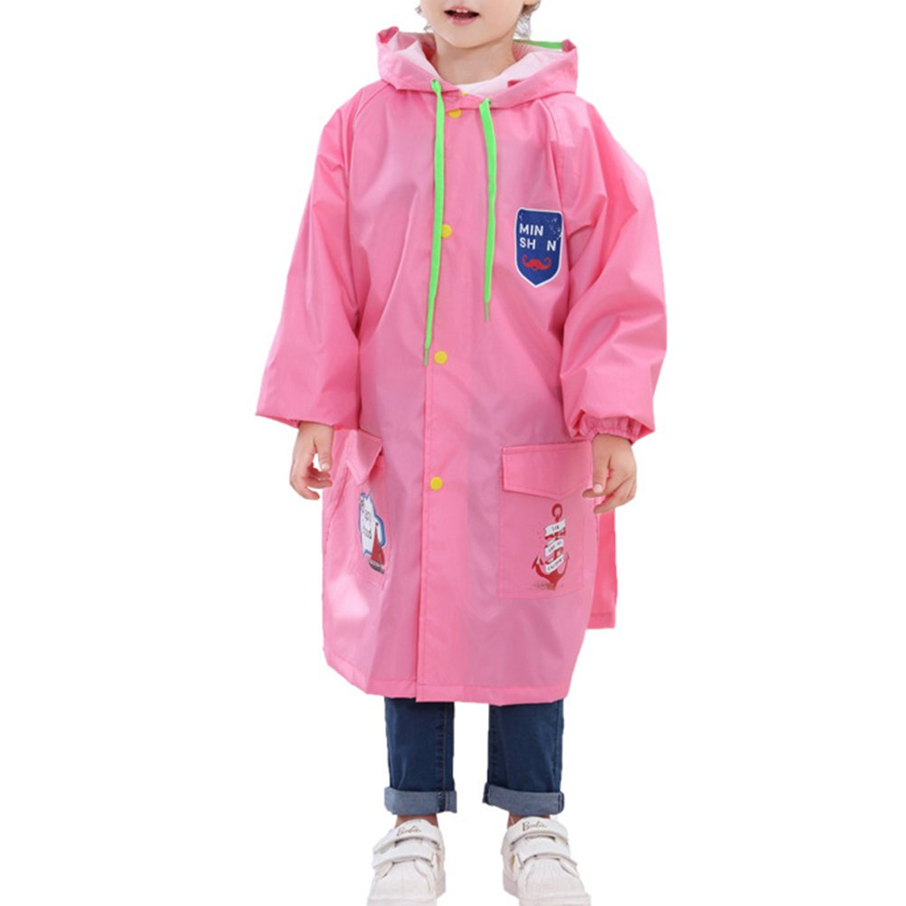 Zhhlinyuan Raincoat for Girls Boys Fashion Cute Waterproof Rain Cape Rain Poncho