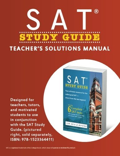 SAT Study Guide: Teacher's Solutions Manual
