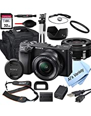 Sony Alpha a6400 Mirrorless Digital Camera with 16-50mm Lens+ 32GB Card, Tripod, Case, and More (18pc Bundle) photo
