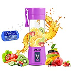 OBERLY was born out of a simple vision: Take the benefits of a blender on the go! We created a small power-machine that lets you make fresh smoothies, shakes, or baby food wherever you are. OBERLY Portable Blender realized real portable thank...