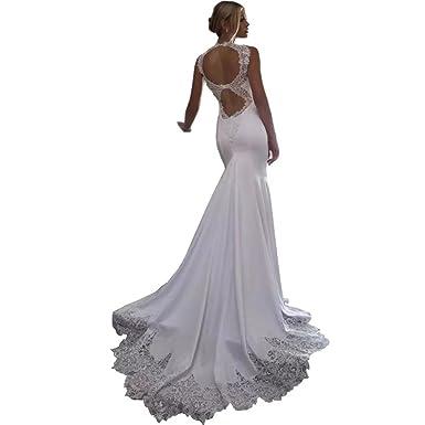 72259ba1d6b Chady 2018 lace Mermaid Beach Wedding Dresses 2018 Backless Chiffon Wedding  Dresses Bridal Gowns for Weddings
