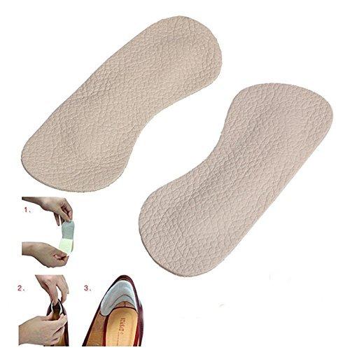 J.C Arts Shoes Leather Filler Heel Grips For Snug Fit - 4 Pieces   For Men & Women   Stop Feet Heel Rubbing & Slipping   Self Adhesive Heel Grips