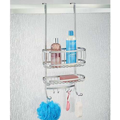 mDesign Over The Door Shower Caddy for Shampoo, Conditioner, Soap ...