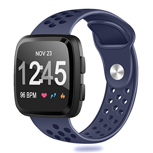 HUMENN For Fitbit Versa Bands, Replacement Accessory Breatha