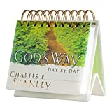 DaySpring God's Way Day By Day - Charles Stanley - DayBrightener Perpetual Calendar, Masculine format (16760)