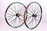Whool 2016 Newest MTB Mountain Bike Wheel Front 2 Rear 5 Sealed Bearing hub disc wheelset Wheels 26 27.5inch Flat Spokes (26inch Green)