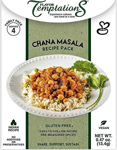 Chana Masala Indian Food Spice Sets - Vegan, Gluten-Free, Salt-Free, Organic Spices and Garam Masala Powder for Indian Cooking