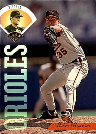 Amazoncom 1995 Leaf Baseball Card 387 Mike Mussina Near Mintmint