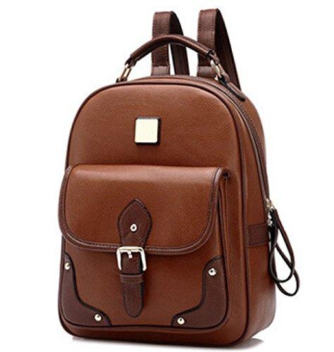 Vintage Tassel Casual Backpack Women Pu Mini Hobo Bag Brown Travel