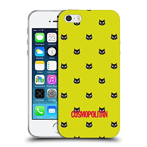 Official Cosmopolitan Yellow Green Lovey The Cat Soft Gel Case for Apple iPhone 5 / 5s / SE