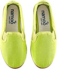 Namoo Kids Slip On Canvas Shoes for Boys and Girls, Cotton Rubber Sole, Baby/Toddler/Kid