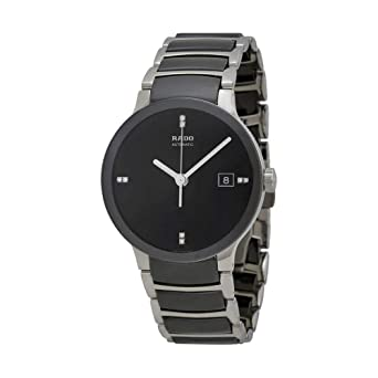 c736bb80ea2 Image Unavailable. Image not available for. Color  Rado Centrix Jubile Black  Dial Stainless Steel ...
