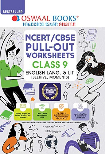 Oswaal NCERT & CBSE Pullout Worksheets Class 9 English Language and Literature Book (For 2022 Exam)