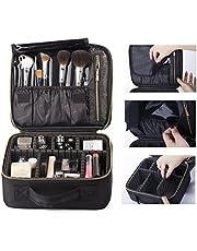 ROWNYEON Makeup Bag Makeup Case EVA Professional Makeup Artist Bag Makeup Train Case Makeup Organiser Bag (Small, Black)