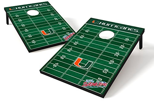 Ncaa Miami Hurricanes Canes - Wild Sports NCAA College Miami Hurricanes Tailgate Toss Game