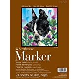 """Strathmore 400 Series Marker Pad, 9""""x12"""" Glue Bound, 24 Sheets per Pad"""