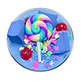 callm 2019 New Hot Fluffy Cute Lollipop Butter Slime DIY Stress Relief Children Kid Funny Toy Gift 60ml