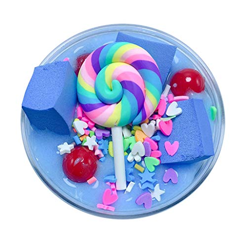 Fluffy Cute Lollipop Butter Slime Diy Stress Relief Children Kid Funny Toy Gift Slime Toys Soft Clay Magnetic Slime Comfortable And Easy To Wear Toys & Hobbies