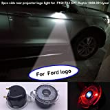 2013 ford raptor accessories - special auto accessories 2pcs set Side rear view mirror projector ghost shadow puddle logo light compatible for Ford F150 FX4 SVT Raptor 2009-2014year No fading color plug and play (From FBA)