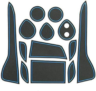 Lfotpp C Hr Chr Gummimatten Wasser Becherhalter Innentür Matten Antirutschmatten 13 Stücke Blau Update Auto