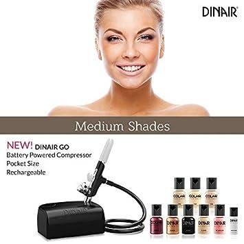 Dinair Go Portable Cordless Airbrush Makeup Kit Medium Shades By