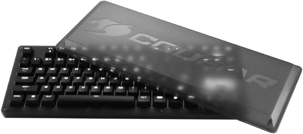Cougar Puri TKL Teclado mecánico para juegos con cubierta protectora magnética y juego extra de teclas metálicas, Cherry MX azul