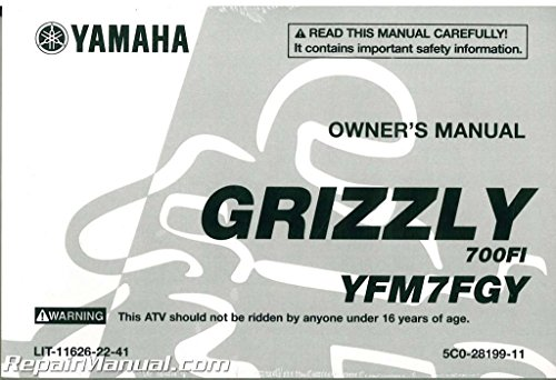 LIT-11626-22-41 2009 Yamaha YFM700 Grizzly 700 FI 4X4 ATV Owners Manual